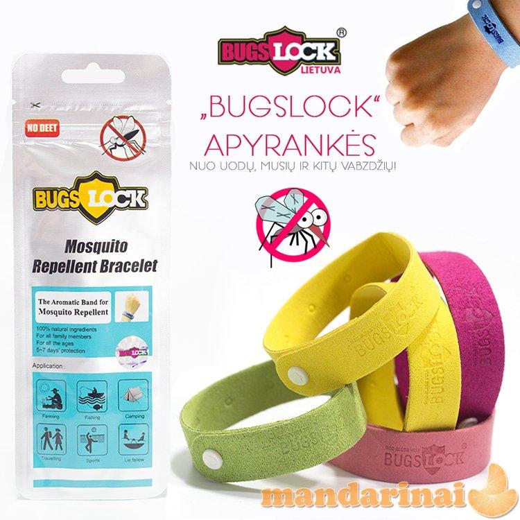 """""""Bugslock"""" apyrankės nuo uodų, musių ir kitų vabzdžių!"""