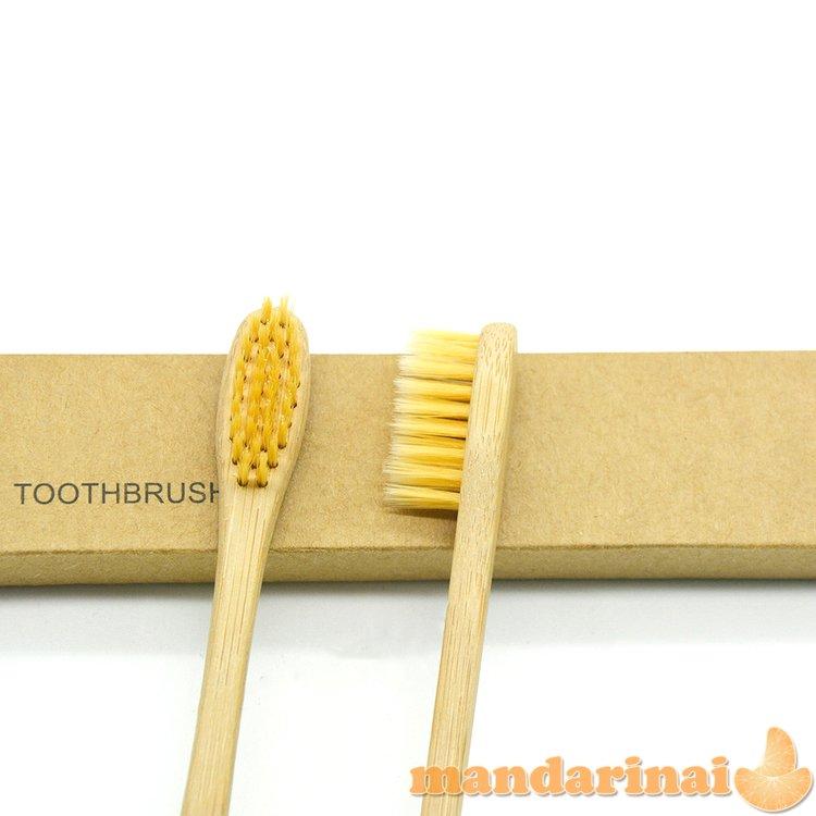 Dantų šepetėliai suaugusiems iš natūralaus bambuko