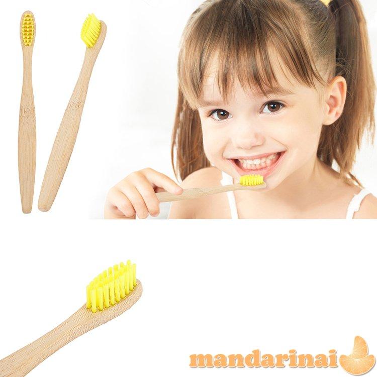 Dantų šepetėliai vaikams iš natūralaus bambuko