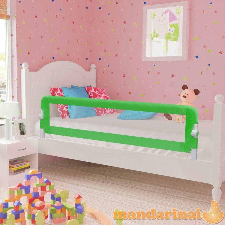Apsauginiai turėklai kūdikio lovai, 2vnt., žal. sp., 150x42 cm
