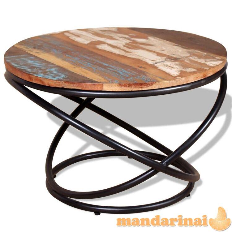Kavos staliukas, masyvi perdirbta mediena, 60x60x40 cm