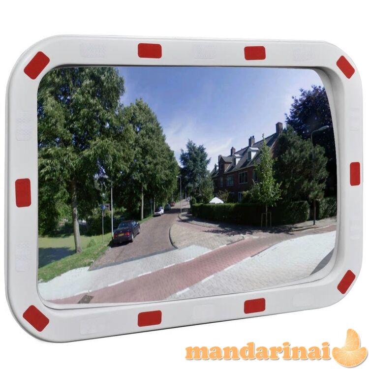 Sferinis kelio veidrodis 40 x 60 cm, stačiakampis, su atšvaitais