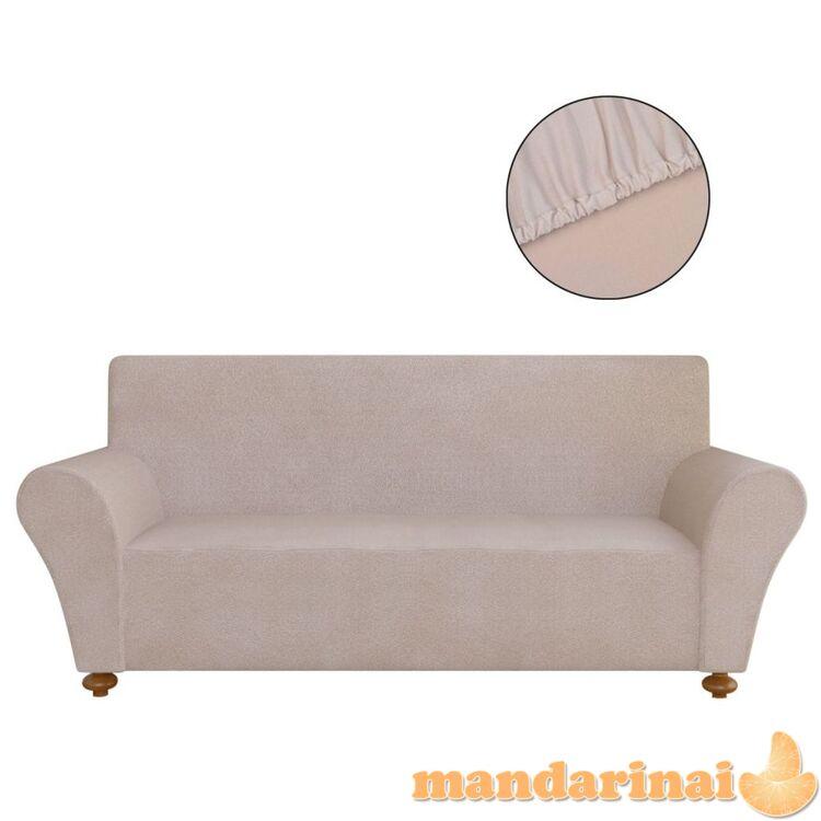 Tamprus sofos užvalkalas, smėlio sp., džersio poliesteris