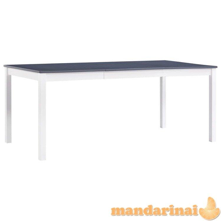 Valgom. stalas, balt. ir pilk. sp., 180x90x73cm, puš. med. mas.