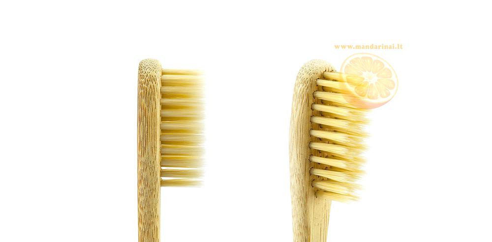 4.17 € Dantų šepetėliai suaugusiems iš natūralaus bambuko