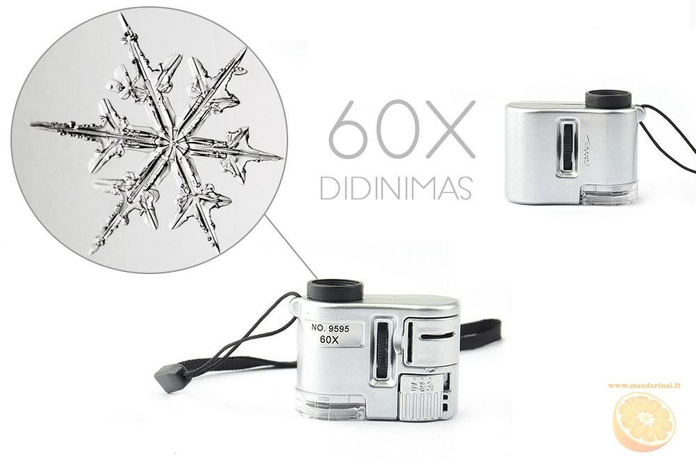 9.99 € net 60 kartų didinantis miniatiūrinis mikroskopas