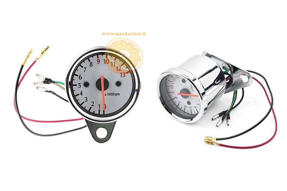 29.99€ 12V analoginis tachometras su apšvietimu