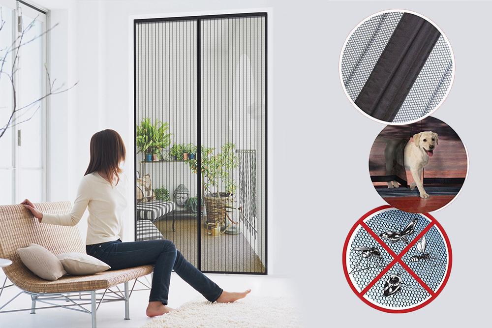 7.49 € Magnetinis durų tinklelis-užuolaida nuo vabzdžių