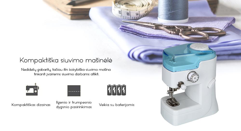 24.99 € Kompaktiška siuvimo mašinėlė