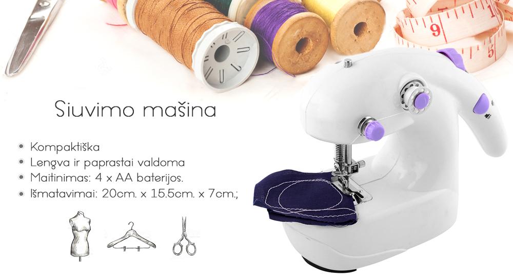 26.99 € Kompaktiška elektrinė siuvimo mašina
