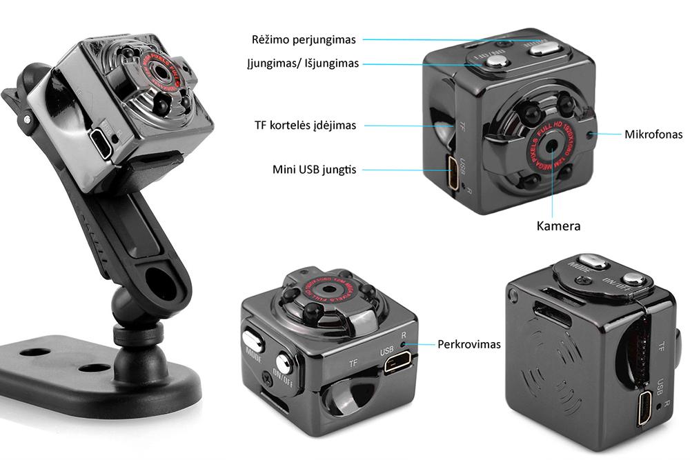 21.99 € Miniatiūrinė Full HD kamera metaliniu korpusu